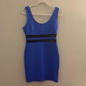 Juniors' Forever 21 Blue Scuba Mini Dress